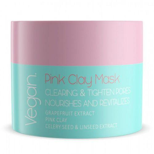 Nacomi -PINK CLAY MASK - PINK CLEANSING AND ASTRINGENT MASK