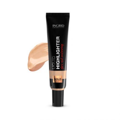 INGRID - Liquid highlighter for face and body INGRID (gold) with hyaluronic acid