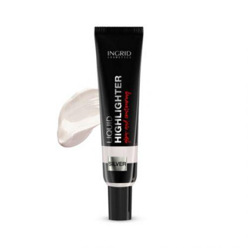 INGRID - Liquid highlighter for face and body INGRID (silver) with hyaluronic acid