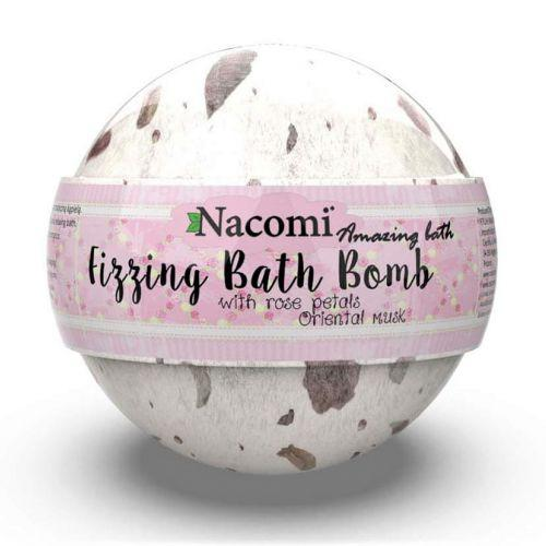 NACOMI  - BATH BALL WITH ROSE PETALS 130G